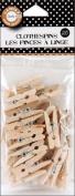 Canvas Corp 467021 Mini Clothespins 25-Pkg-Natural