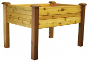 Gronomics EGB 34-48S 34 in. X 48 in. X 32 in. Natural Stained Finish Western Red Cedar El