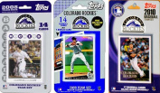 C & I Collectables ROCKIES3TS MLB Colorado Rockies 3 Different Licenced Trading Card Team Sets