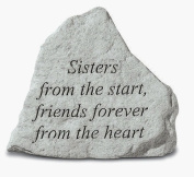 Kay Berry- Inc. 74220 Sisters From The Start-Friends Forever From The Heart - Memorial - 5.25 Inches x 4.5 Inches