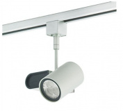 Nora Lighting NTE-820L30F9W 9W Robo Cylinder LED Track Head 3000K 30 Degrees Flood White H-Style