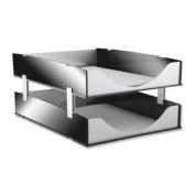 Kantek KTKBA311 Stacking Supports- Aluminium- 4-ST- Black-Acrylic