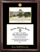 Campus Images TX953LGED Texas A & M University Gold embossed diploma frame with Campus Images lithograph