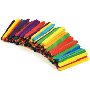 Multicraft Imports CW497 Craftwood Mini Popsicle Sticks 2-1-20cm . x 1-10cm . 150-Pkg-Multicolor