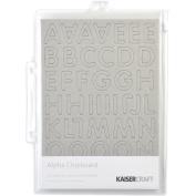 Chipboard Alphabet #3 21cm x 15cm Sheets 3/Pkg-.2220cm Uppercase, Lowercase & Numbers