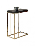 Monarch Specialties I 3007 Cappuccino Hollow-Core - Chrome Metal Accent Table
