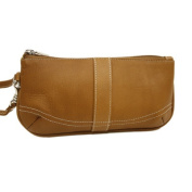 Piel Leather 2768 Large Ladies Wristlet - Saddle