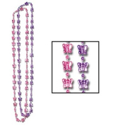 Beistle 57226 - Butterfly Beads - 28 Inches- Pack of 12