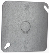 Thomas & Betts 4 in. Square Blank Cover With Knockout 52-C-6