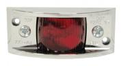 Peterson Mfg. Red Vanguard II Chrome Clearance Marker Light V122XR