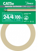 Southwire Company 100 24-4 Tan CAT5e Indoor & Outdoor Cord 56917643