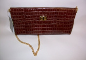 zen3 1000 Kimberly Embossed Croc Leather Clutch
