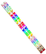Musgrave Pencil Co Inc MUS1361D Happy Birthday Fiesta 12Pk Pencil