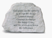 Kay Berry- Inc. 73420 God Grant Me The Serenity To Accept The Things - Memorial - 6.5 Inches x 4.5 Inches