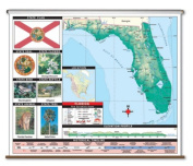 Universal Map 26350 Florida Thematic Primary Wall Map K-2