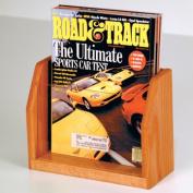 Wooden Mallet MT-1MO Countertop Magazine Display in Medium Oak