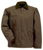 Berne Apparel J374BBR560 3X-Large Regular Washed Gasoline Jacket Fleece Lined - Bark