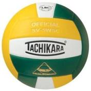 Tachikara SV5WSC.GDW Sensi-Tec Composite High Performance Volleyball - Gold-White-Dark Green