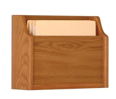 Wooden Mallet CHD15-1MO Deep Pocket Letter Size File Holder in Medium Oak