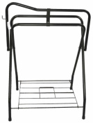Partrade Standing Saddle Rack Black 30 Inch - 248031\106898