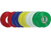 AUDIOP ET20 Vinyl Multi-Colour Electrical Tape - 10 Pack