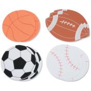 Darice 467062 Foam Shapes 12-Pkg-Sports Ball
