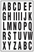 Hy-ko MM-7L 2 in. Black & White Vinyl Self-Stick Letters