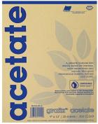 Alvin 5CL0912 23cm . x 30cm . x 0cm . Grafix Biodegradable Clear Acetate - Pad of 25 Sheets