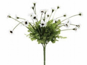 FBD515-WH 10.5 in. White Daisy Bushes X5- Case of 24