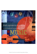 Posterazzi OWP77180D Music Notes X Poster by Beth Anne Creative -13.00 x 19.00