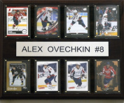 C & I Collectables 1215OVECH8C NHL Alex Ovechkin Washington Capitals 8 Card Plaque