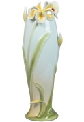 Unicorn Studios AP20042AA Tiger Lily Flower and Lady Bug Porcelain Vase
