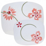 Reston Lloyd 22238 Pretty Pink - Counter- Stove Mat -Small- Set of 2