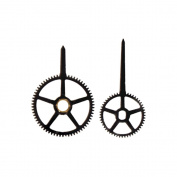 Walnut Hollow Gears Clock Hands, 2.5cm - 1.9cm and 2.5cm - 1.3cm , Black