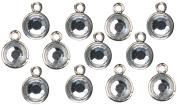 Cousin JBCHARM-8372 Jewellery Basics Metal Charms-Silver Drop 12-Pkg
