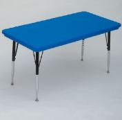 Correll Ar2448-Rec-27 Rectangular Blow-Molded Activity Tables - Standard Legs - Blue