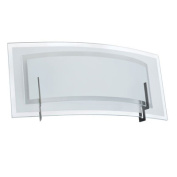 Dainolite V034-1W-SC 1 Light Vanity in Satin Chrome with Clear-Frosted Glass