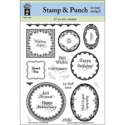 Hot Off The Press 120936 Hot Off The Press Acrylic Stamps 15cm . x 20cm . Sheet-Stamp & Punch