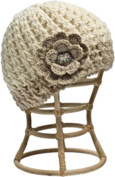 Nirvanna Designs CH75 White Crochet Flower Hat