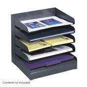 Safco Products Company Safco Products Company Steel Desk Tray Sorter 5-Tier Letter-Size Black