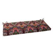 Pillow Perfect 502922 Outdoor Marapi Bench Cushion in Black - Multi-Black