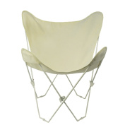 Algoma 4052-00 Butterfly Chair White Frame, Natural