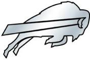 Caseys Distributing 8162010422 Buffalo Bills Silver Auto Emblem
