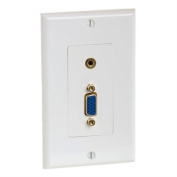 Cmple 998-N VGA 15pin female - 3.5mm Audio jack Wall Plate - Gold Plated
