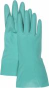 Boss Gloves 33cm . Medium Green Nitrile Gloves 118M