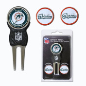 Team Golf 31545 Miami Dolphins Divot Tool Pack with Signature tool