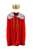 Beistle 60252 - Child King Or Queen Robe With Crown - 80cm  - Red