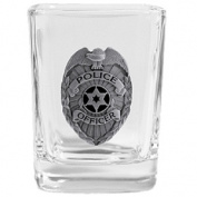 Siskiyou Gifts SSQS51 Police Square Shot Glass