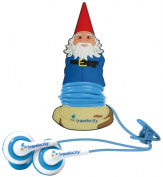 Mizco TV-GBUD-GNOME Travel Comfort Buds With Roaming Gnome Cord Manager