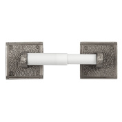 The Copper Factory Solid Copper Toilet Tissue Holder with a Square Backplates in Satin Nickel Finish - CF136SN